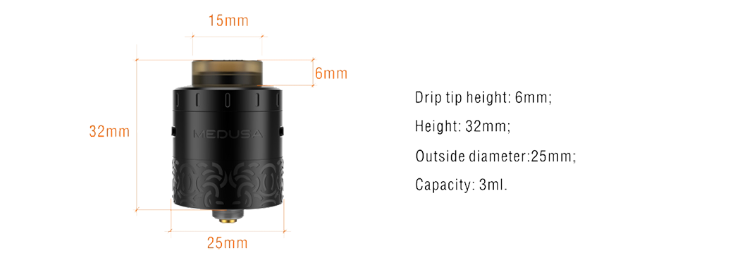 Medusa RDTA New Parameters