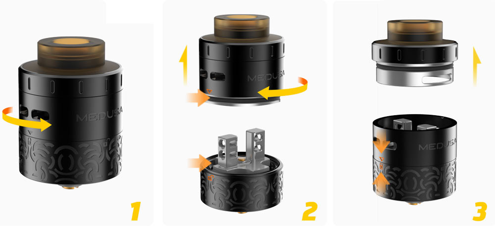 Medusa RDTA Steps and Refill Options