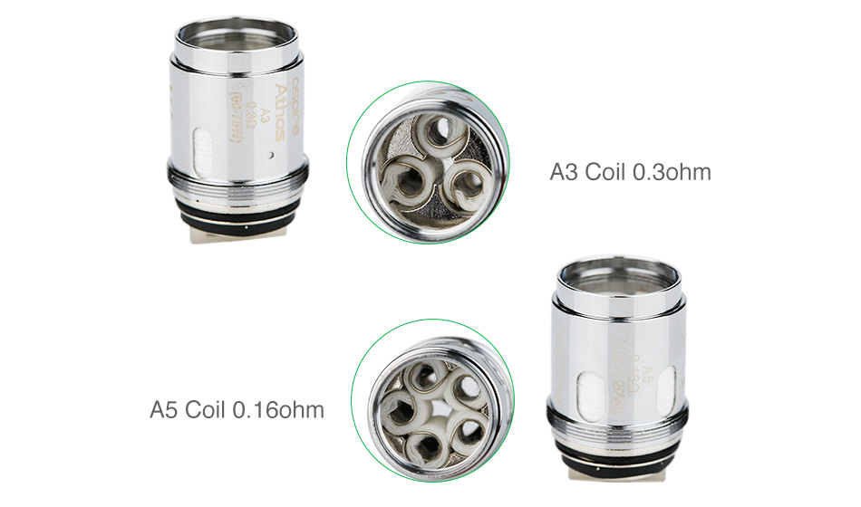Aspire Athos Tank Replacement Coil Heads Resistance