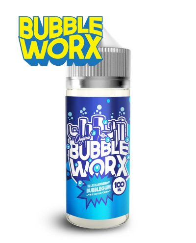 Blue Raspberry Bubbleworx 100ml Shortfill