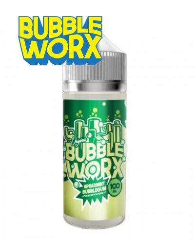 Spearmint Bubbleworx 100ml Shortfill