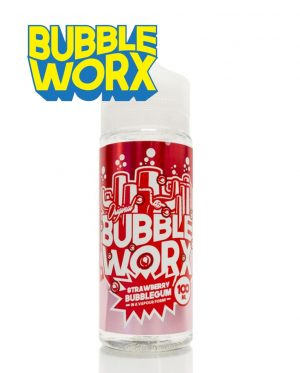 Strawberry Bubbleworx 100ml Shortfill