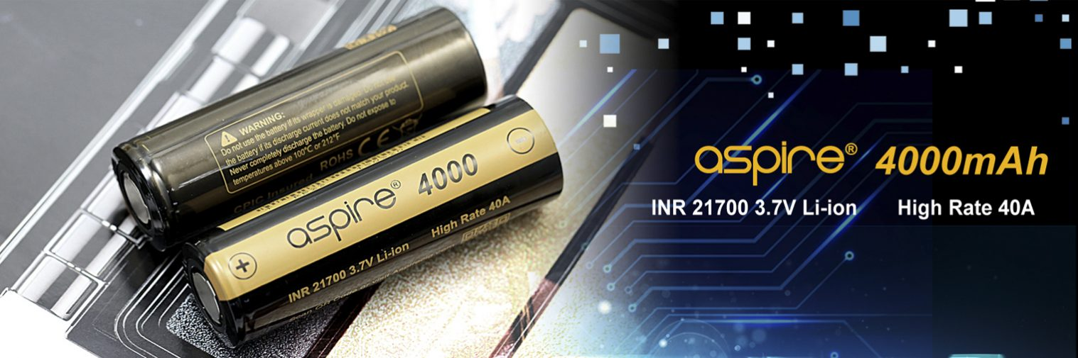 Aspire 4000mah - INR 21700 Battery