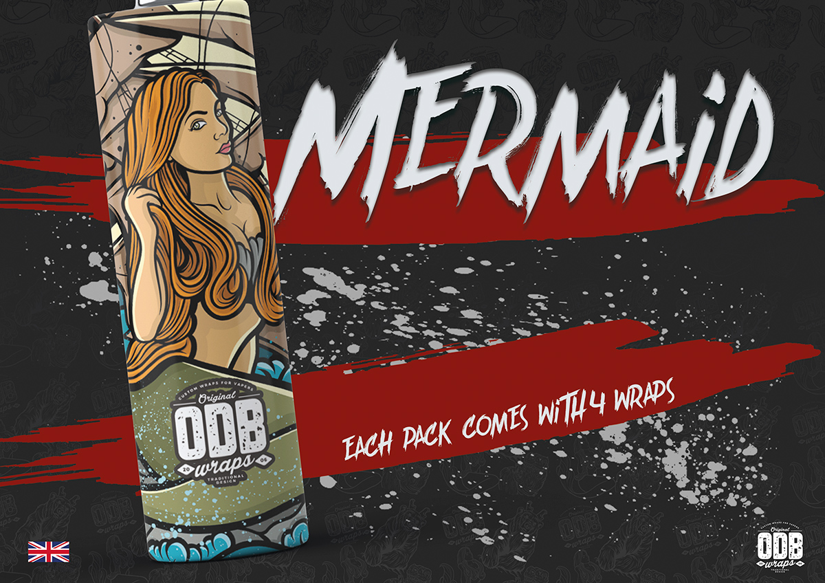 Mermaid ODB Battery Wraps 4 Pack