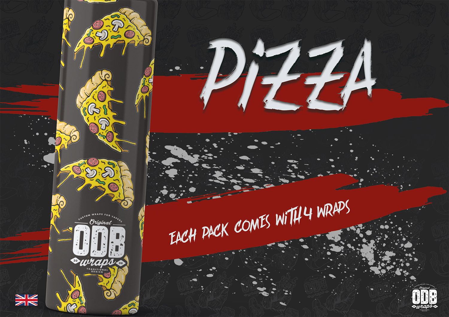 Pizza ODB Battery Wraps 4 Pack