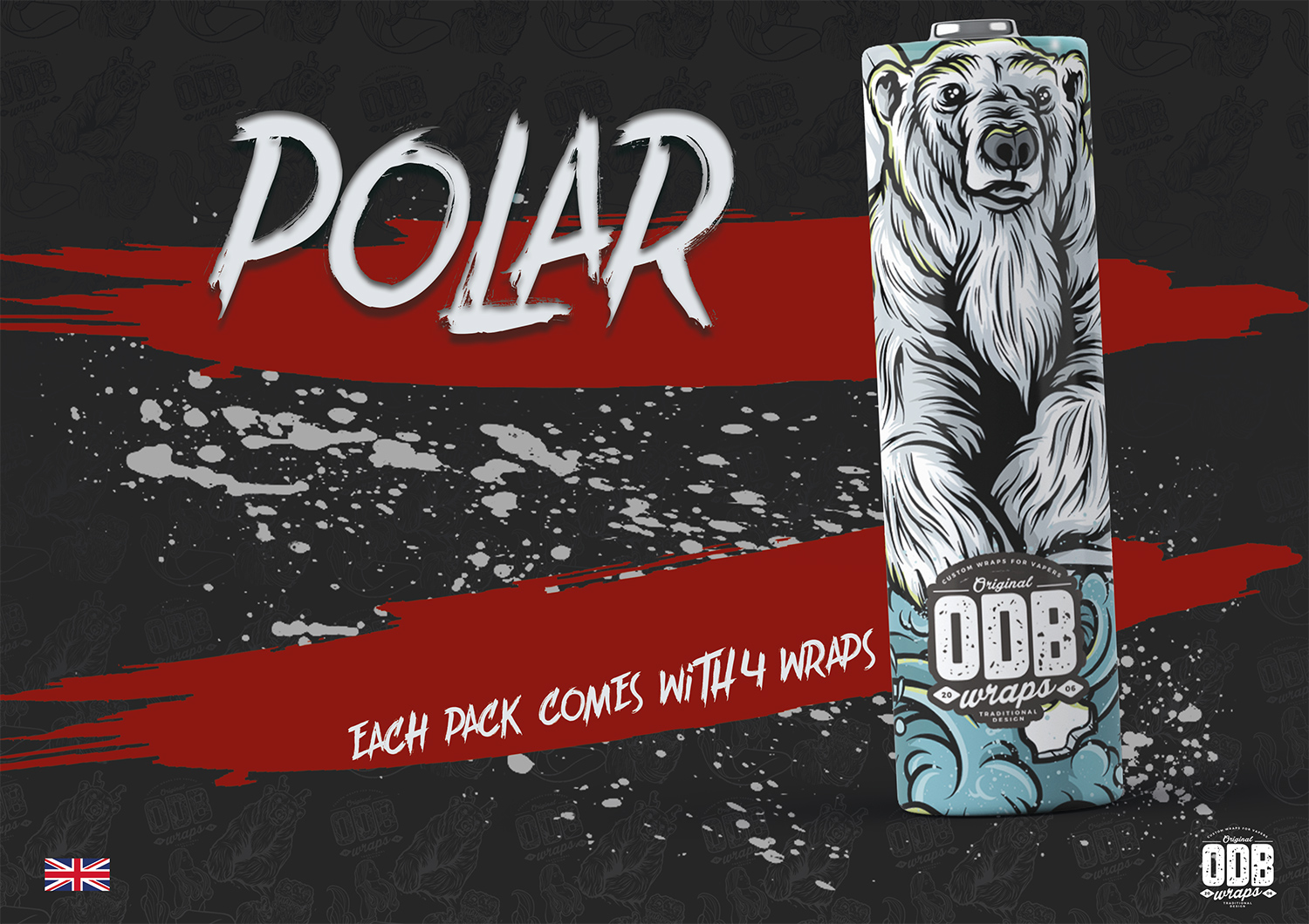 Polar ODB Battery Wraps 4 Pack