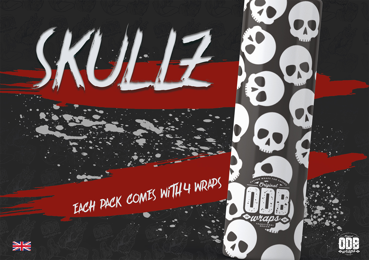 Skullz ODB Battery Wraps 4 Pack