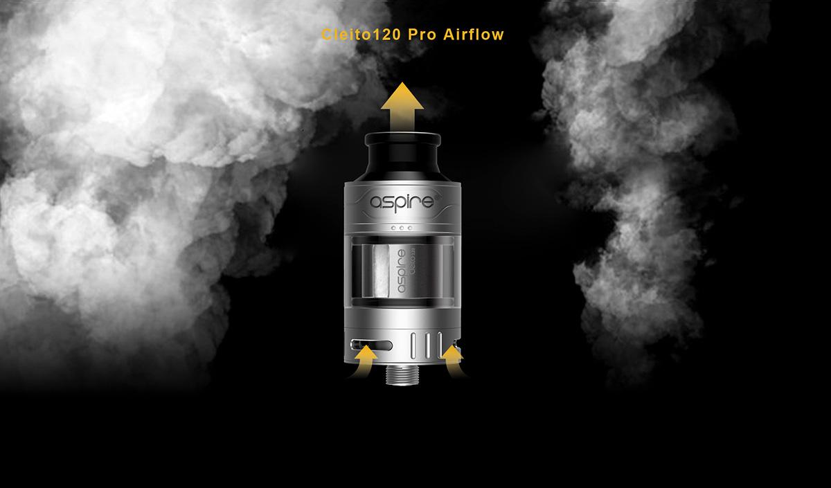 Aspire Cleito 120 Pro Tank Airflow