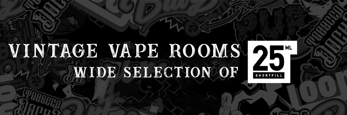 Vintage Vape Rooms Selection Of 25ml Shortfills