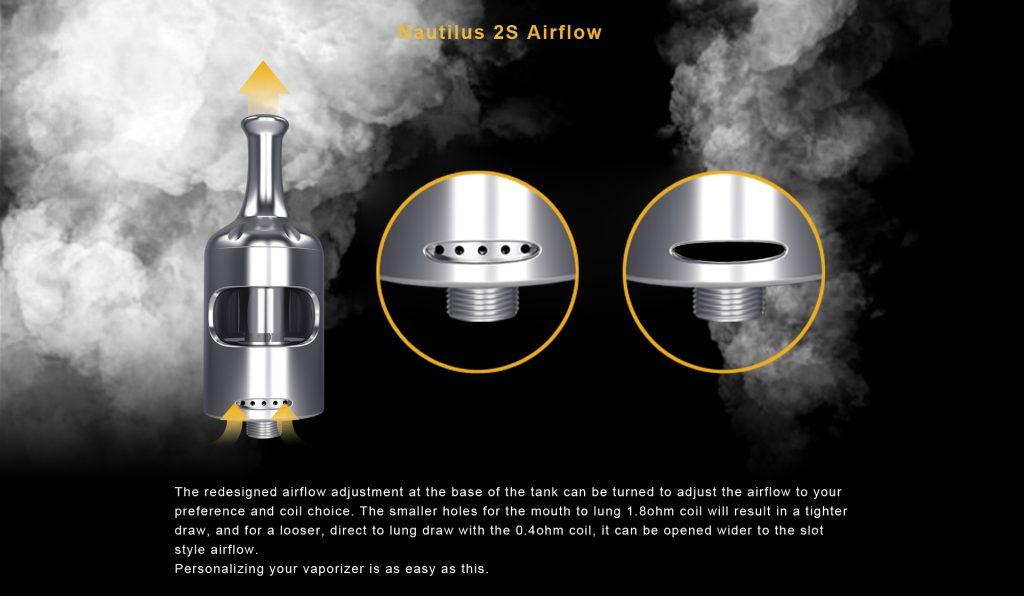 Aspire Nautilus 2S Tank Airflow