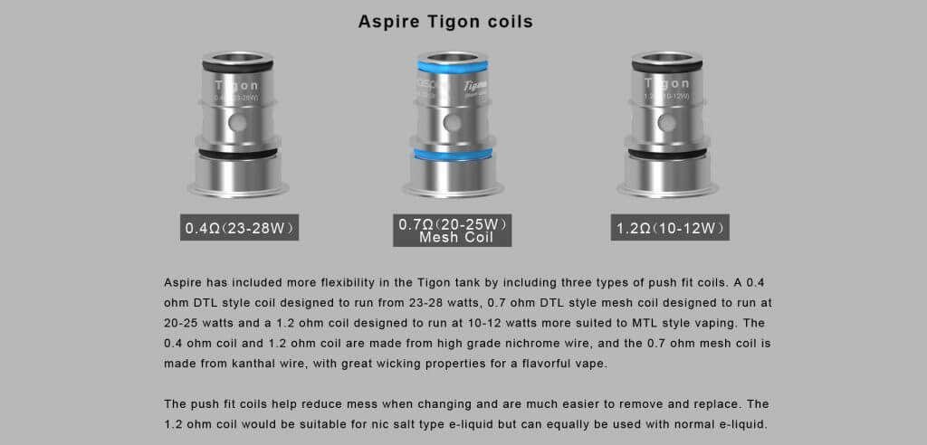 Aspire Tigon Kit Coils