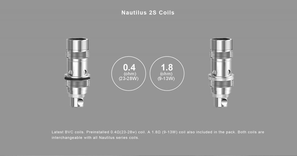 Aspire Zelos 2.0 50W Kit Nautilus 2S Coils